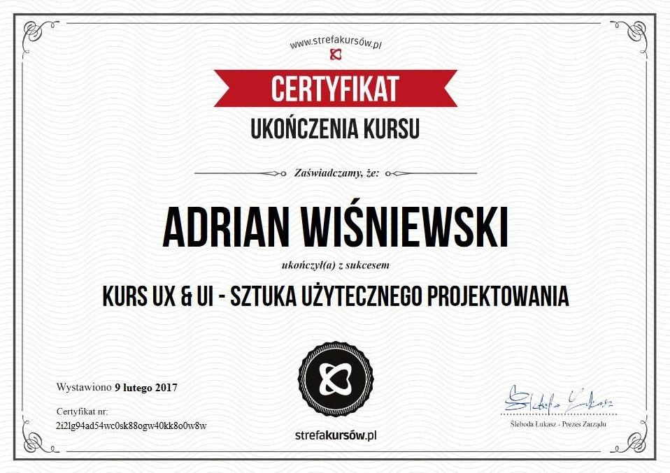 certyfikat UX & UI